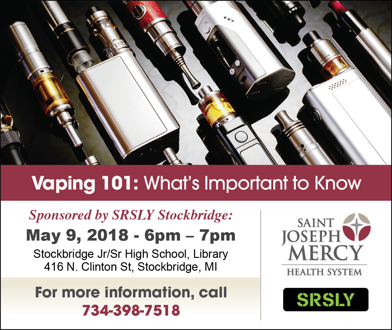 Vaping 101: What's Important to Know - SRSLY Stockbridge
