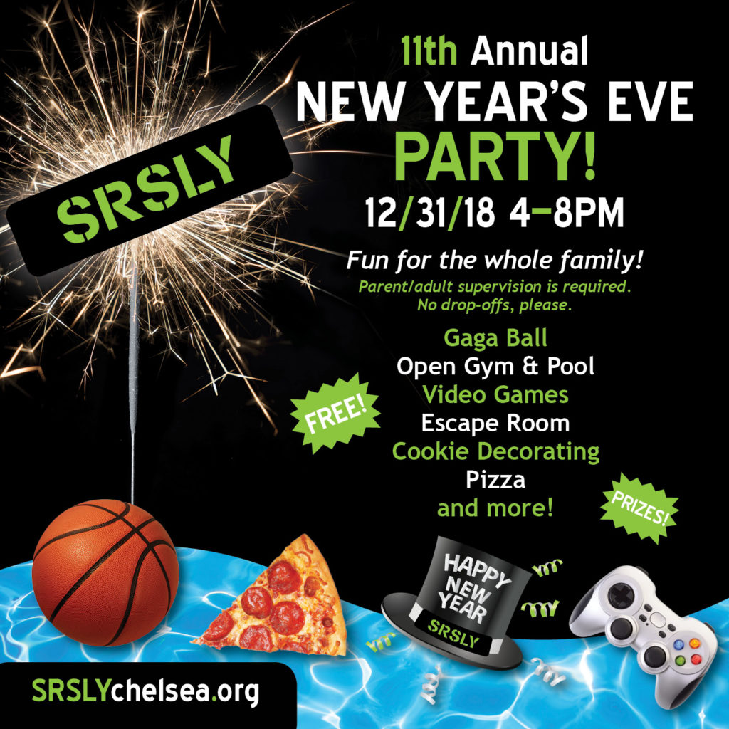 11th Annual New Year's Eve Party! @ Beach Middle School, Chelsea, MI